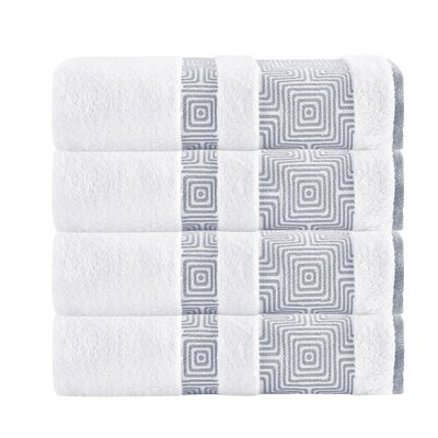 Highlands Ranch Texture Bath Towel Color: White