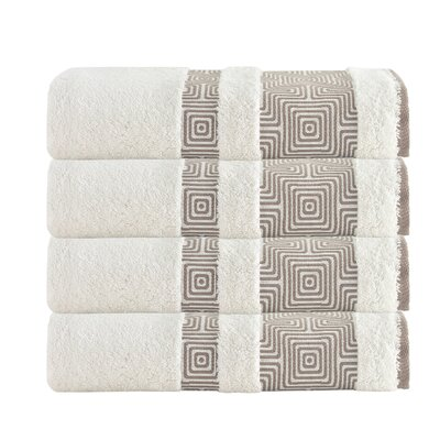 Highlands Ranch Texture Bath Towel Color: Cream