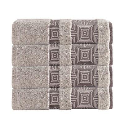Highlands Ranch Texture Bath Towel Color: Beige