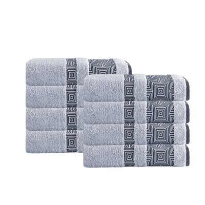 Greenwalt Turkish Cotton Hand Towel Color: Silver
