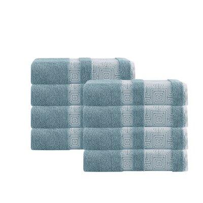 Hilgard Turkish Cotton Hand Towel Color: Aqua
