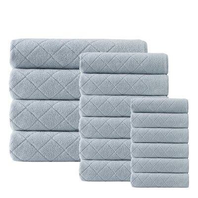 Villeroux 16 Piece Towel Set Color: Green