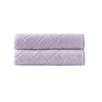 Violet Plush Texture Bath Towel Color: Lilac