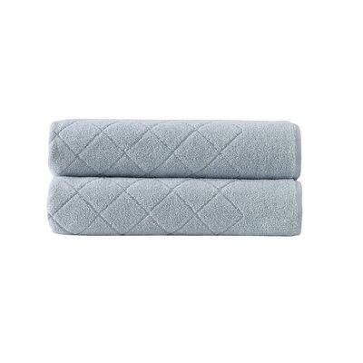 Violet Plush Texture Bath Towel Color: Green