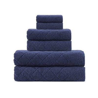 Villers 6 Piece Towel Set Color: Navy