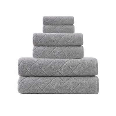 Villers 6 Piece Towel Set Color: Silver