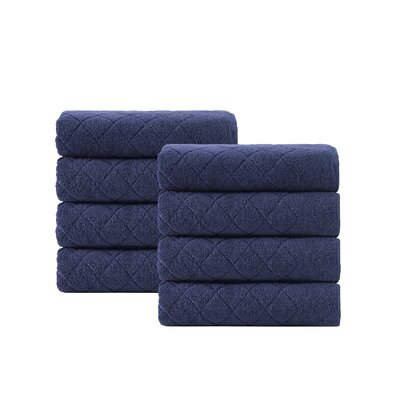 Vine Hand Towel Color: Navy