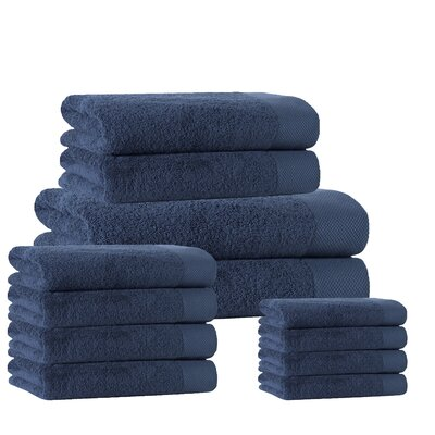 12 Piece Towel Set Color: Denim