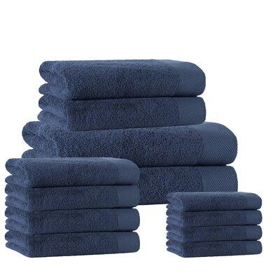 12 Piece Towel Set Color: Denim