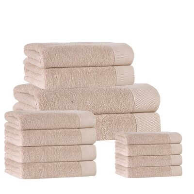 12 Piece Towel Set Color: Hazelnut