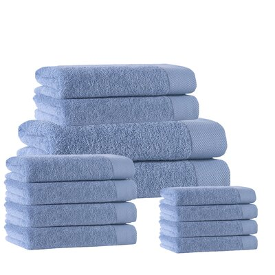 12 Piece Towel Set Color: Aqua