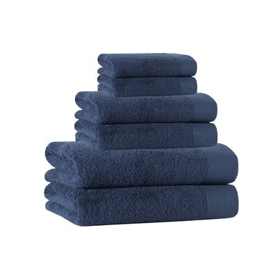 6 Piece Towel Set Color: Denim