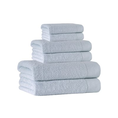 6 Piece Towel Set Color: Water Fall