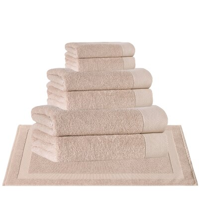 8 Piece Turkish Cotton Towel Set Color: Hazelnut