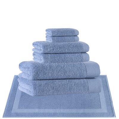 8 Piece Turkish Cotton Towel Set Color: Aqua