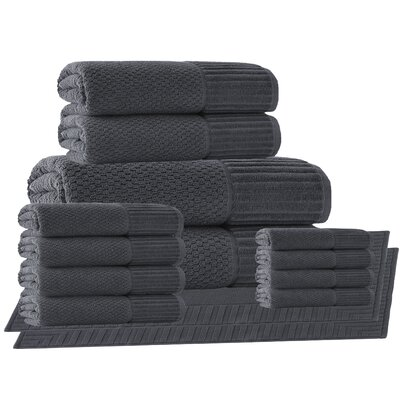 Belcourt 14 Piece Towel Set Color: Anthracite