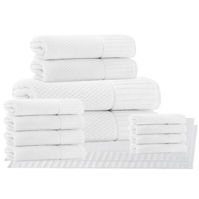 Belcourt 14 Piece Towel Set Color: White