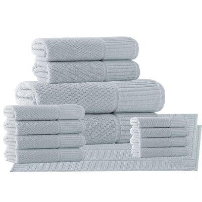 Belcourt 14 Piece Towel Set Color: Waterfall