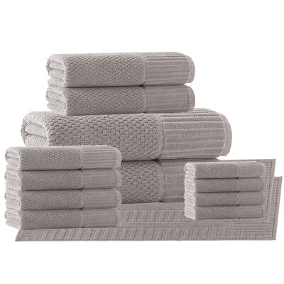 Belcourt 14 Piece Towel Set Color: Sand