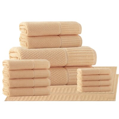 Belcourt 14 Piece Towel Set Color: Somon