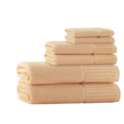 Forsyth 6 Piece Embroidery Turkish Cotton Towel Set Color: Somon