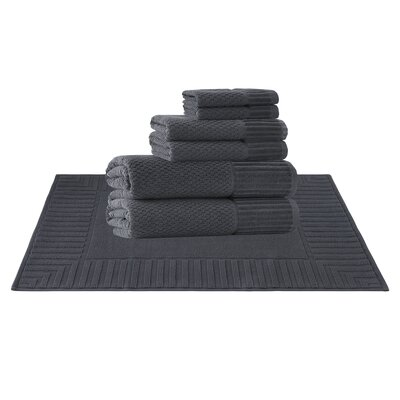 Picasso 8 Piece Towel Set Color: Anthracite