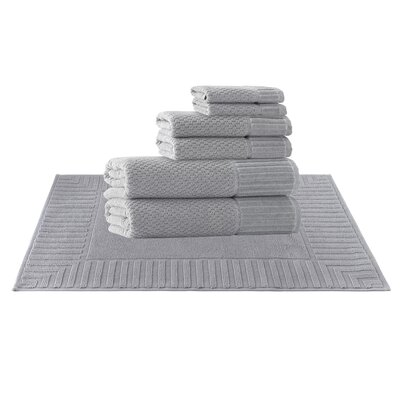 Picasso 8 Piece Towel Set Color: Silver