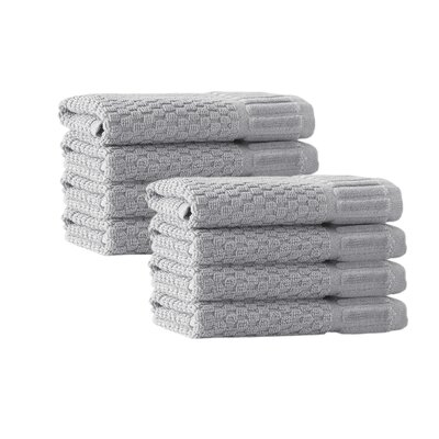Windward Textured Design Washcloth Color: Silver