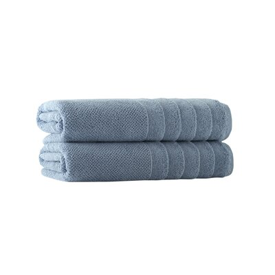 Embroidery Bath Towel Set Color: Denim