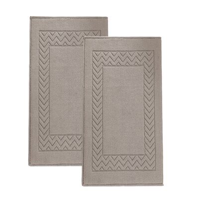 Bren Turkish Cotton Bath Rug Color: Beige