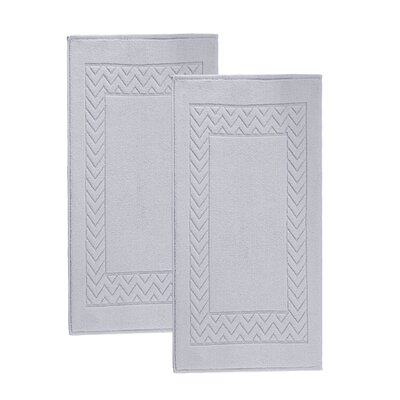 Bren Turkish Cotton Bath Rug Color: Silver