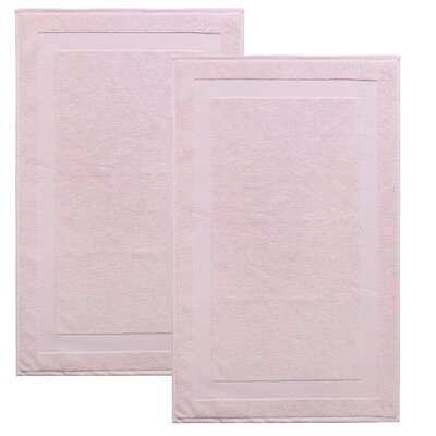 Saylors Turkish Cotton Bath Mat Color: Pink