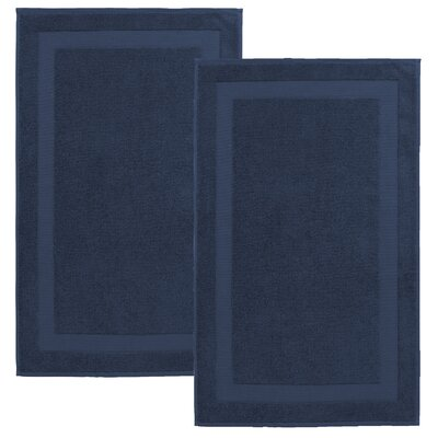 Saylors Turkish Cotton Bath Mat Color: Denim