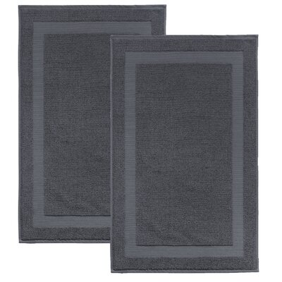 Saylors Turkish Cotton Bath Mat Color: Anthracite