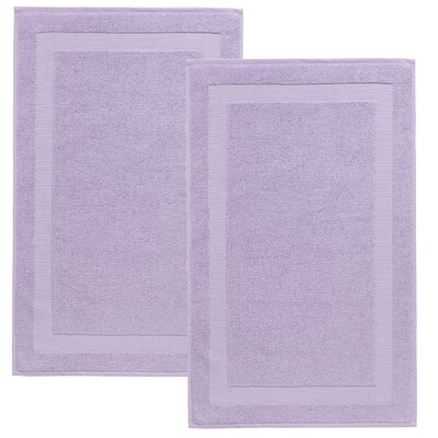 Saylors Turkish Cotton Bath Mat Color: Lilac