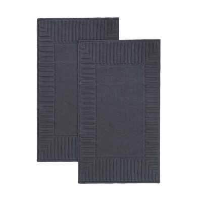 Camacho Turkish Cotton Bath Rug Color: Anthracite
