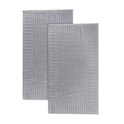 Camacho Turkish Cotton Bath Rug Color: Silver