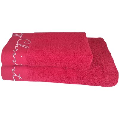 Christmas Decorative 2 Piece Towel Set Color: Red