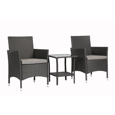 3 Piece Dining Set with Cushions