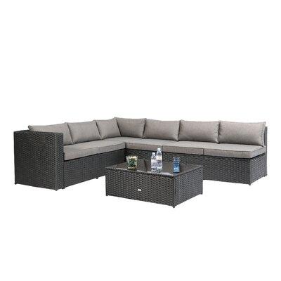 Baner Garden Nat 4 Piece Sofa Set With Cushions