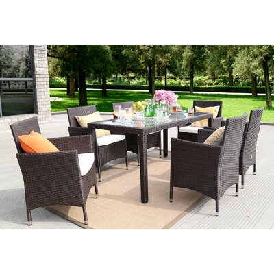 7 Piece Dining Set Finish: Chocolate