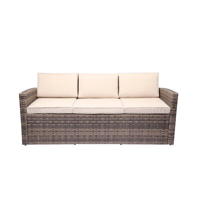 Outdoor Rattan Pool Garden 3 Seater Sofa with Cushions