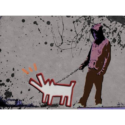 "Choose The Dog"" by Banksy Painting Print on Wrapped Canvas SC15392015-BY"