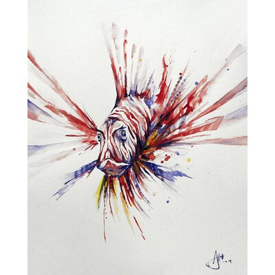 ''Pterois'' by Marc Allante Painting Print on Wrapped Canvas Size: 40