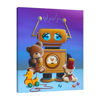'The Toy Robot' by Cindy Thornton Painting Print on Wrapped Canvas SC25051215-CT