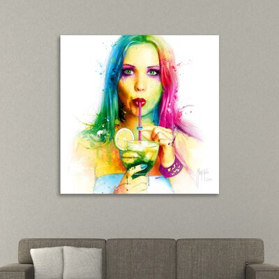 'Salsa Caliente' Graphic Art Print on Wrapped Canvas Size: 12