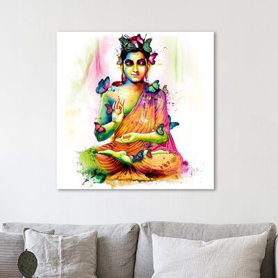 'Siddhartha' Graphic Art Print on Wrapped Canvas Size: 12
