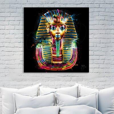 'Tutanchamun' Graphic Art Print on Wrapped Canvas Size: 12
