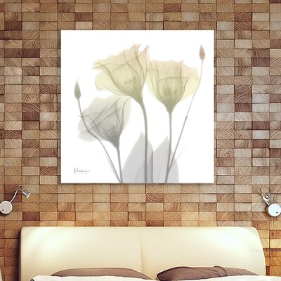 'Sunday Morning Gentian' Graphic Art Print on Wrapped Canvas Size: 12