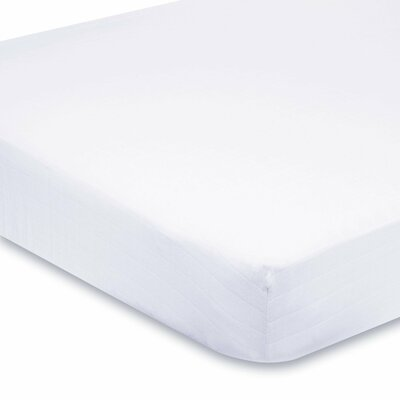 400 Thread Count Egyptian Quality Cotton Fitted Sheet Size: Queen, Color: White